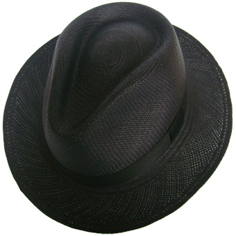 Black Panama Cuenca Hat - Plantation (Ausin) - Grade 3-4