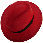 Panama Cuenca Hat - Plantation (Ausin) Red (Grade 3-4)