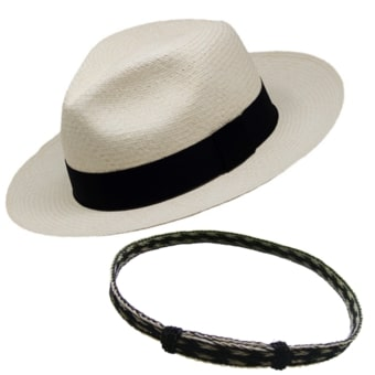 Panama Montecristi Hat - Fedora  (Grade 9-10) + Horsehair Band - Two colors