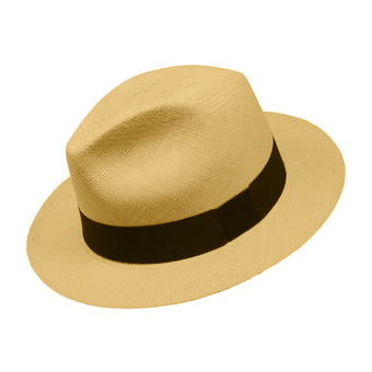 Panama Cuenca Hat - Fedora  (Grade 3-4) - Light Brown