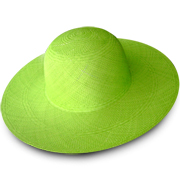 Green Brisa Panama Hat for Women