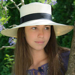 Panama Hat - Gambler for Women (Grade 3-4) Wide Brim