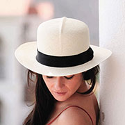 Colonial Panama Hat for Women - Natural - Gamboa Classic