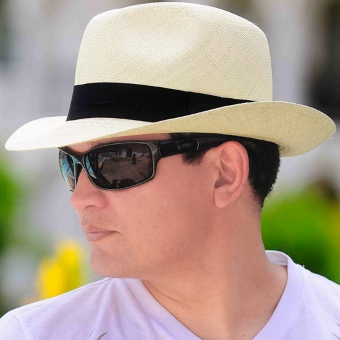 Panama Hat - Borsalino for Men (Grade 5-6) - Natural
