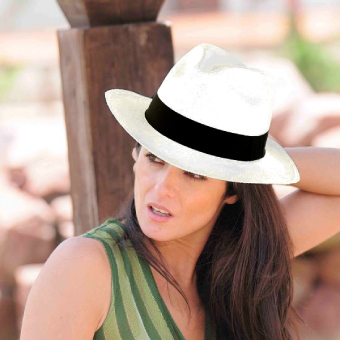 Panama Cuenca Hat - Fedora for Women (Grade 3-4) - White