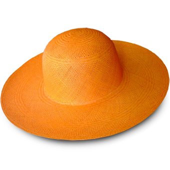 Orange Brisa Panama Hat for Women