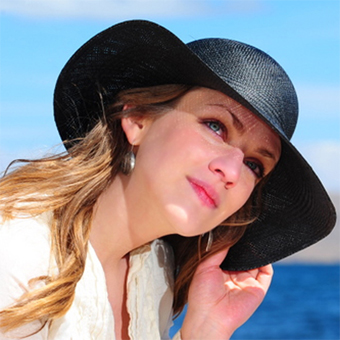 Black Brisa Panama Hat for Women