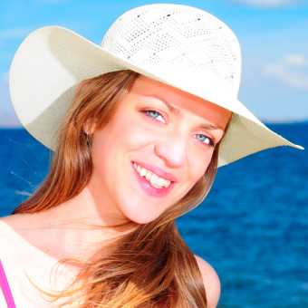 White Panama Hat - Extra Thin - Grade 9-10