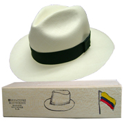 Panama Hat Montecristi (13-14) + Raft Wood Hat Box