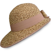 Women's Two Colored - Oval Bordered Panama Hat