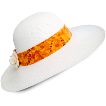 White Brisa Panama Hat for Women