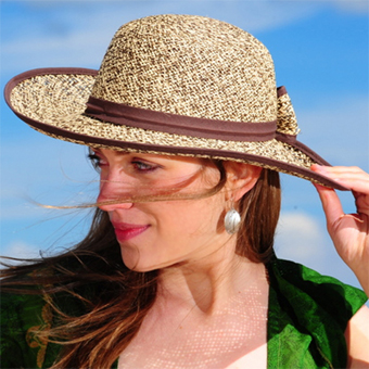 Two Color Brisa Panama Hat for Women