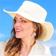 Crochet Panama Hat for Women - Wide Brim