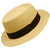 Panama Cuenca Hat - Gambler (Chemise)  (Grade 3-4) Light Brown