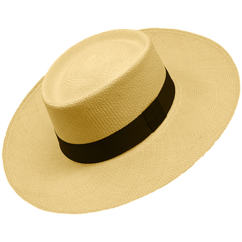 Panama Cuenca Hat - Gambler (Chemise) for Men (Grade 3-4) Wide Brim