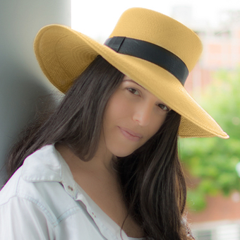 Panama Cuenca Hat - Gambler (Chemise) for Women (Grade 3-4) Wide Brim
