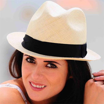 Panama Cuenca Hat - Natural Borsalino (Havana) for Women (Grade 3-4)