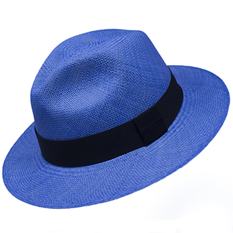 Panama Cuenca Hat - Fedora Light Blue - (Grade 3-4)