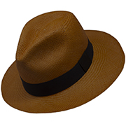Chapeau Panama Cuenca Orange - Fedora  (Qualite 3-4)