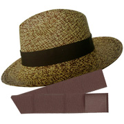 Panama Hat Cuenca Partridge (3-4) + Panama Standard Hat Band - Dark Brown