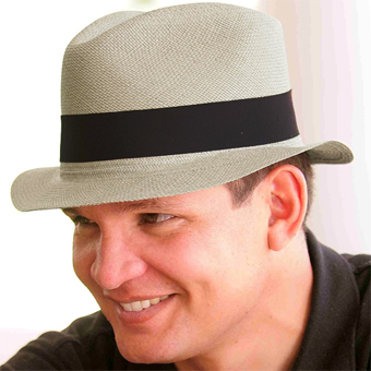 Panama Cuenca Hat - Plantation (Ausin) Gray for Men (Grade 3-4)