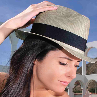 Panama Cuenca Hat - Plantation (Ausin) Gray for Women (Grade 3-4)