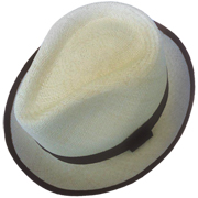 Bound Edge Panama Cuenca Hat - Plantation with Brown Band (Grade 3-4)