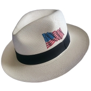 Panama Hat USA Flag