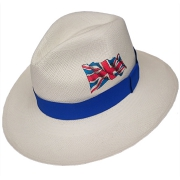 Panama Hat United Kingdom Flag - Blue Brazil 2016