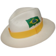 Panama Hat Brazil Flag 2016 - Yellow Brazil 2016