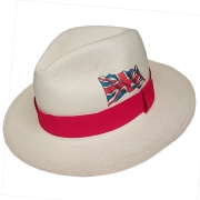 Panama Hat United Kingdom Flag - Red Brazil 2016