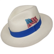 Panama Hat USA Flag - Blue Brazil 2016