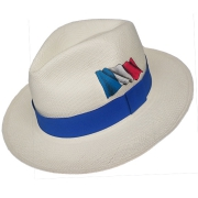 Panama Hat France Flag - Blue Brazil 2016