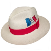 Panama Hat France Flag - Red