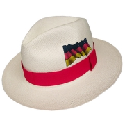 Panama Hat Germany Flag - Red