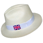 Panama Hat United Kingdom Flag - White Brazil 2016