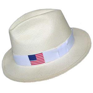 Panama Hat USA Flag - White Brazil 2016