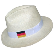 Panama Hat Germany Flag - White Brazil 2016