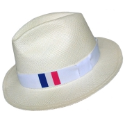 Panama Hat France Flag - White Brazil 2016