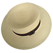 Panama Hat Boater - Backstitch Orange Band