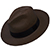 Panama Cuenca Hat - Fedora for Women (Grade 3-4) - Brown